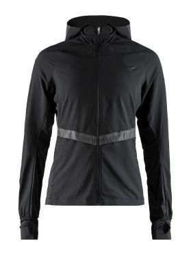 Craft Urban run hood running jacket black women