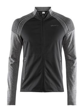 Craft Urban run fuseknit running jacket black/grey men