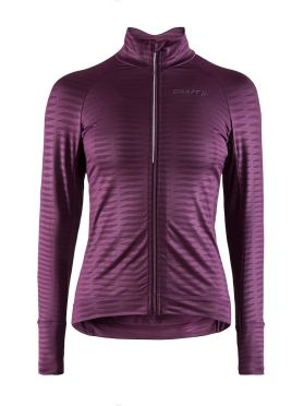 Craft Velo thermal 2.0 cycling jersey long sleeve purple women