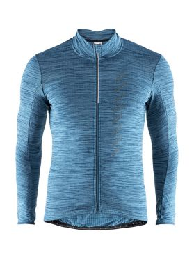 Craft Velo thermal 2.0 long sleeve cycling jersey blue men