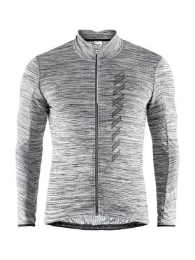 Craft Velo thermal 2.0 long sleeve cycling jersey grey men