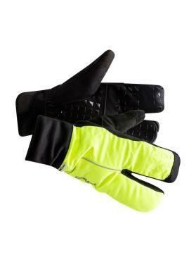 Craft Siberian 2.0 Split finger bike gloves black/yellow unisex