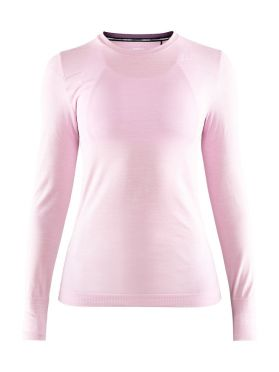 Craft Fuseknit comfort long sleeve baselayer light pink women