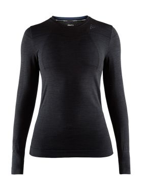 Craft Fuseknit comfort long sleeve baselayer black women