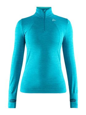 Craft Fuseknit comfort zip long sleeve baselayer blue women