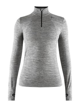 Craft Fuseknit comfort zip long sleeve baselayer grey women