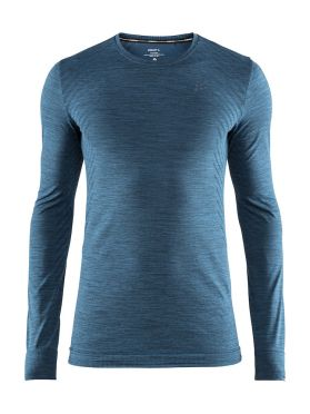 Craft Fuseknit comfort long sleeve baselayer blue/fjord men