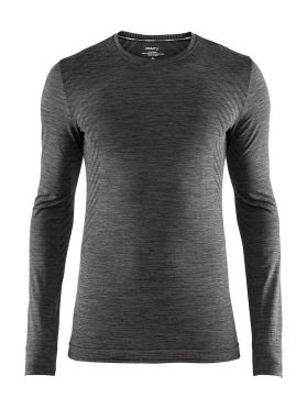 Craft Fuseknit comfort long sleeve baselayer dark grey men
