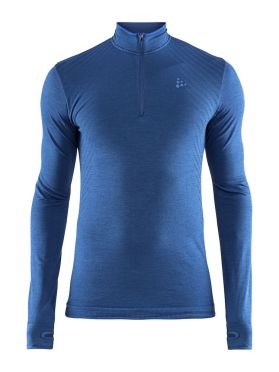 Craft Fuseknit comfort zip long sleeve baselayer blue men