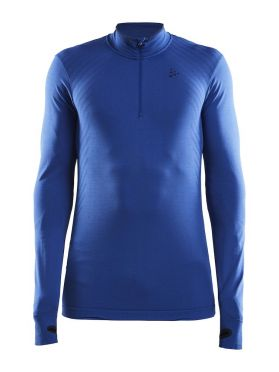 Craft Fuseknit comfort zip long sleeve baselayer blue men