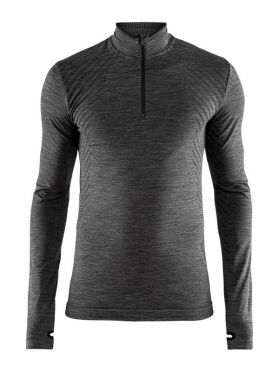 Craft Fuseknit comfort zip long sleeve baselayer dark grey men
