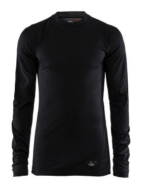 Craft Warm merino long sleeve baselayer black men
