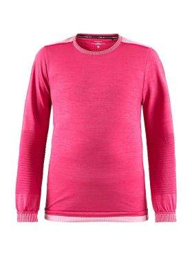 Craft Fuseknit comfort long sleeve baselayer pink junior
