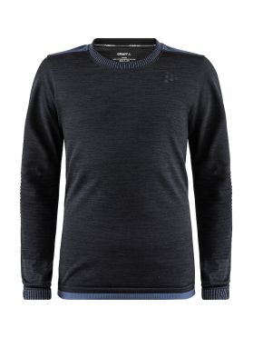 Craft Fuseknit comfort long sleeve baselayer black junior