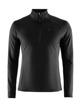 Craft Prep halfzip ski mid layer black men