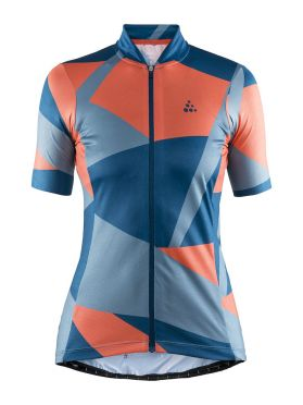 Craft Hale Graphic cycling jersey blue/orange women
