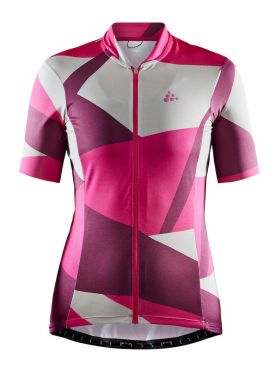 Craft Hale Graphic cycling jersey pink/white women