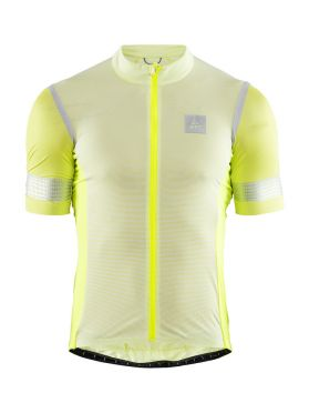 Craft Hale Glow cycling jersey yellow/silver men