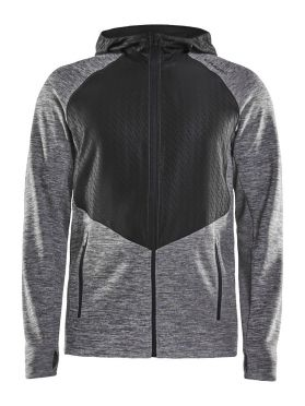 Craft Charge Sweat hood running jacket grey men