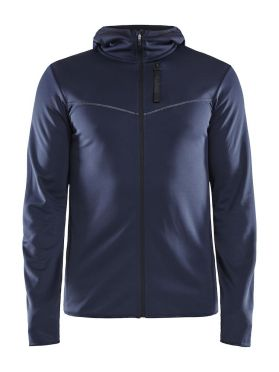Craft Eaze FZ sweat hood running jacket blue men