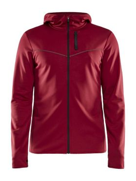 Craft Eaze FZ sweat hood running jacket red men