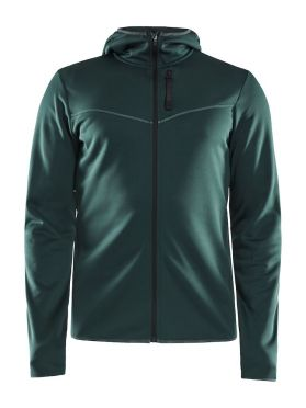 Craft Eaze FZ sweat hood running jacket green men