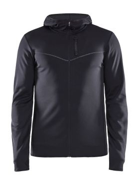Craft Eaze FZ sweat hood running jacket black men