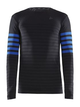 Craft Fuseknit comfort blocked long sleeve baselayer black/blue men