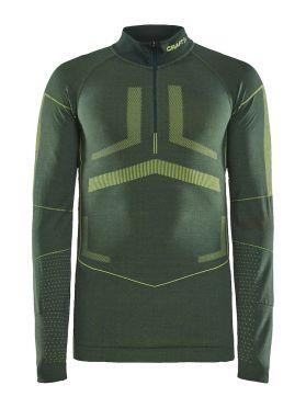 Craft Active Intensity zip long sleeve baselayer green men