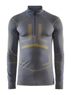 Craft Active Intensity zip long sleeve baselayer grey/yellow men