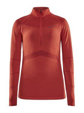 Craft Active Intensity zip long sleeve baselayer red women