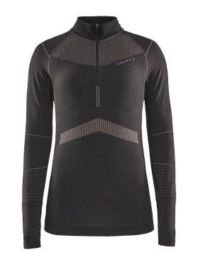 Craft Active Intensity zip long sleeve baselayer black/pink women
