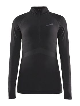 Craft Active Intensity zip long sleeve baselayer black women