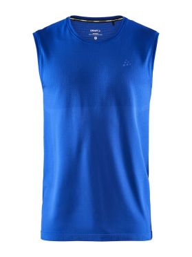 Craft Fuseknit sleeveless sleeve baselayer blue men