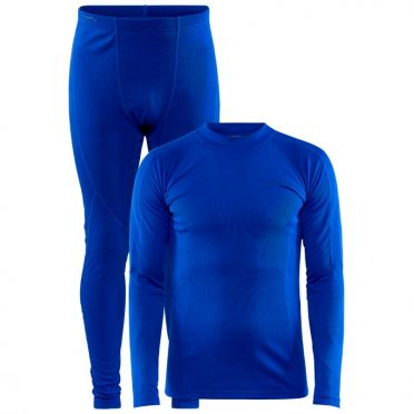 Craft Core Warm Thermo baselayer set blue men