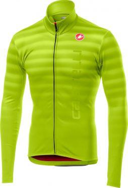Castelli Scossa FZ long sleeve jersey yellow fluo men