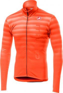 Castelli Scossa FZ long sleeve jersey orange men