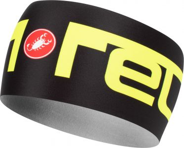 Castelli Viva 2 thermo headband black/yellow men