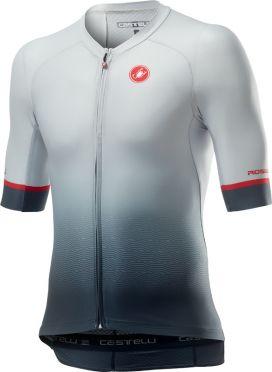 Castelli Aero race 6.0 short sleeve jersey white/grey men