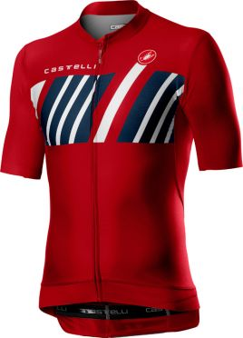 Castelli Hors Categorie short sleeve jersey red men