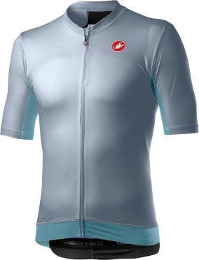 Castelli Vantaggio short sleeve jersey grey/blue men