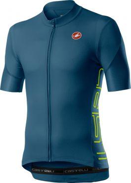 Castelli Entrata V short sleeve jersey blue/green men