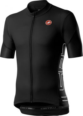 Castelli Entrata V short sleeve jersey black men
