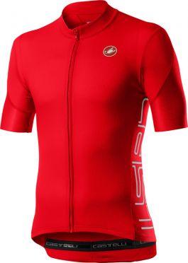 Castelli Entrata V short sleeve jersey red men