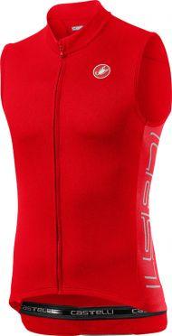 Castelli Entrata V sleeveless jersey red men