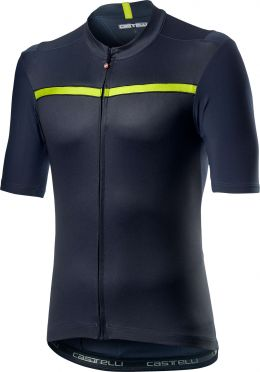 Castelli Unlimited short sleeve jersey blue/yellow men