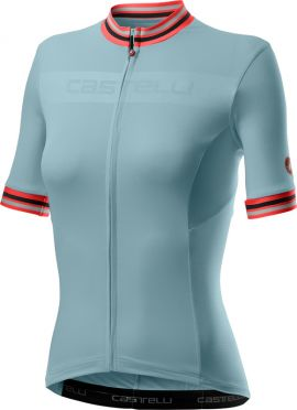 Castelli Promessa 3 short sleeve jersey light blue women