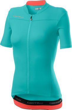 Castelli Anima 3 short sleeve jersey light blue women