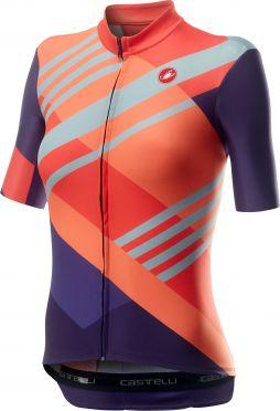 Castelli Talento short sleeve jersey pink/purple women
