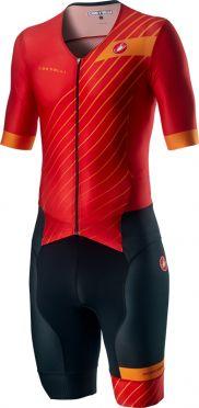 Castelli Free Sanremo 2 trisuit short sleeve red/black men